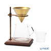 KINTO 'Slow Coffee Style' [Heat-registant Glass] 27591 Coffee Carafe 700ml, Stainless Steel Filter, Filter Holder, Filter server, Filter Stand (set of 5 for 4cups)
