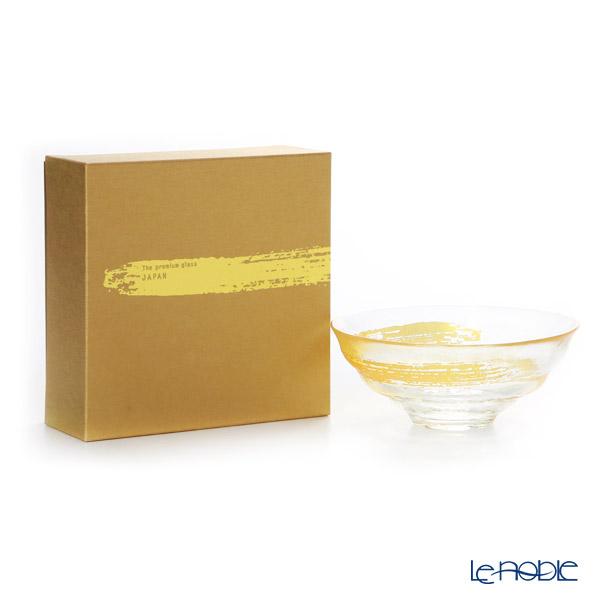 Ishizuka Glass 'Premium Nippon Taste - Kin Ichi monji' Gold R-6700 Matcha Bowl 14.5cm