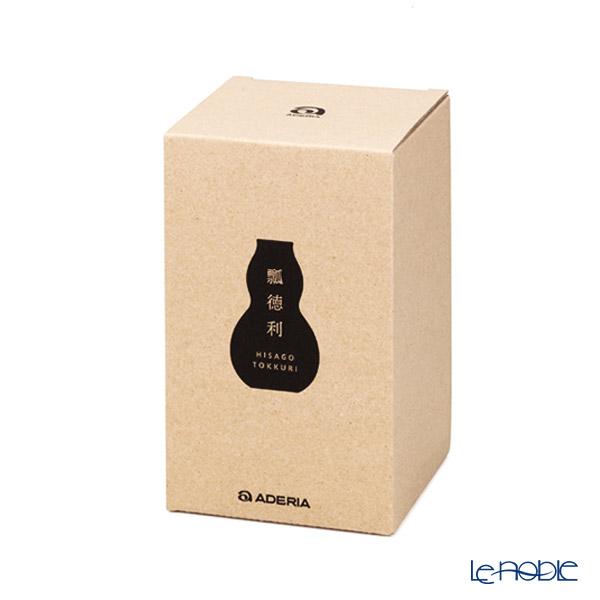 Ishizuka Glass 'Hisago' Blue Black H-4988 Sake Bottle 370ml