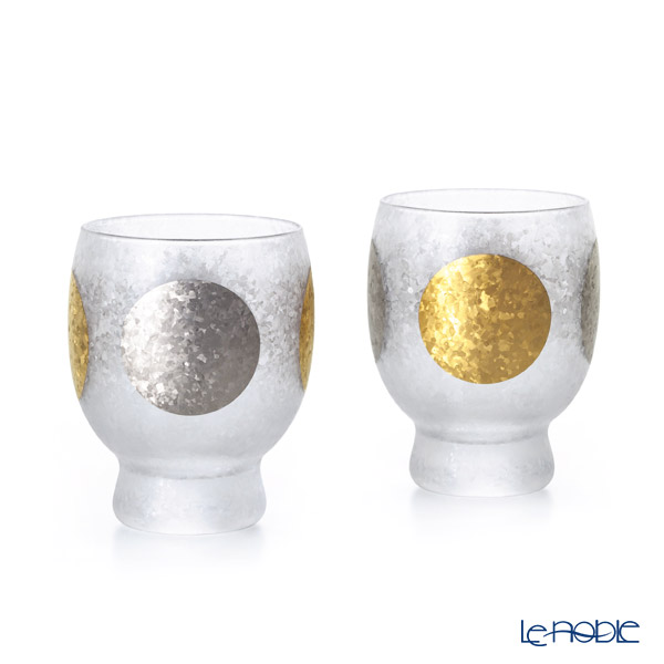 Ishizuka Glass 'Premium Nippon Taste - Sun Moon' S-6310 Sake Glass 145ml (set of 2)