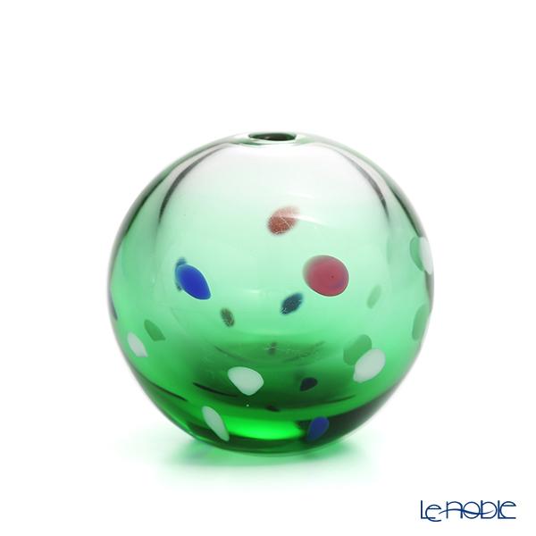 津軽びいどろ 一輪挿し(花瓶) 彩手毬(いろてまり)青葉 F-71266