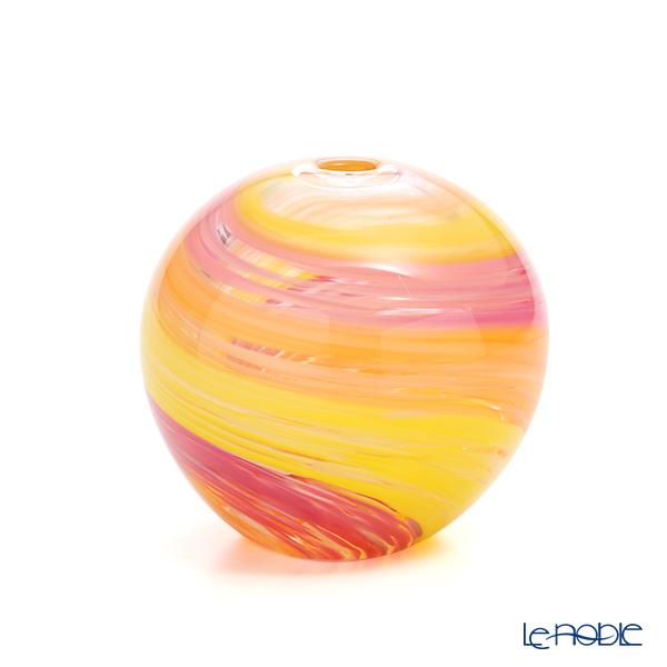 津軽びいどろ 一輪挿し(花瓶) 彩手毬(いろてまり)花雲 F-71268