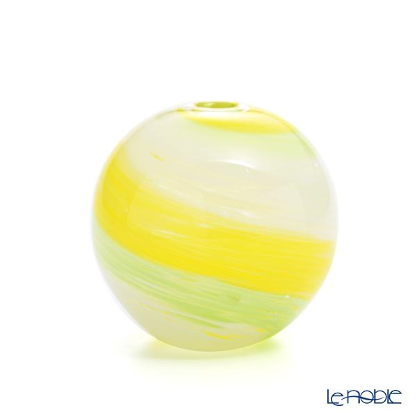 津軽びいどろ 一輪挿し(花瓶) 彩手毬(いろてまり)若草 F-71269