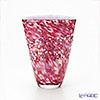 Tsugaru Vidro Glass Hana-Akari, Hirosaki Cherry Blossom, Fan-shaped Vase F-71435