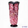 Tsugaru Vidro Glass Hana-Akari, Hirosaki Cherry Blossom, Vase with black F-71436