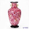 Tsugaru Vidro Glass Hana-Akari, Hirosaki Cherry Blossom, Vase with gold grip F-71437