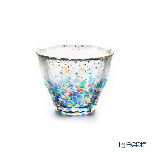 Tsugaru Vidro 'Matsuri / Festival' Red & Blue FS-71564 Mini Cup 85ml (set of 2 colors)
