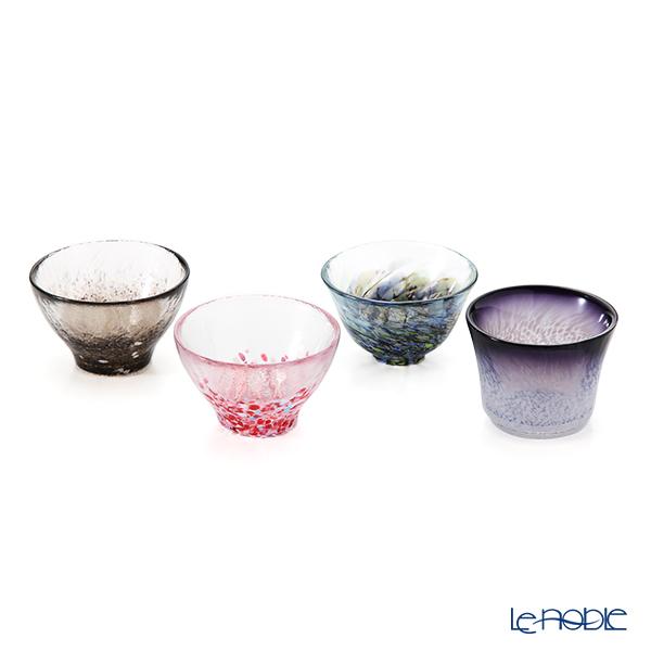 Tsugaru Vidro 'Aomori no Sakana' FS-71593 Mini Cup (set of 4 patterns)