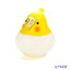 Ishizuka Glass 'My Family (Bird) - Cockatiel' Yellow & White F-71975 Animal Object H7.3cm