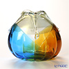 Tsugaru Vidro Glass Minoru Akikawa Studio Middle vase, autumn wind with gold F-77309