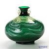 Tsugaru Vidro Glass Okawa Kaoru Studio Large vase, Fresh green in Oirase F-79646