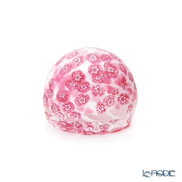 【1点限り】津軽びいどろ 大川薫工房 香合 ピンク/ホワイト OK22-3041