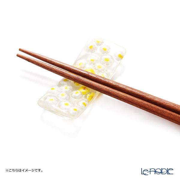 Tsugaru Vidro 'Flower' Yellow & White OK23-5010 Chopstick Rest 7cm
