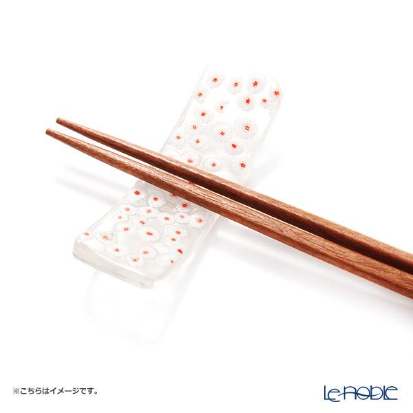 Tsugaru Vidro 'Cell' White & Red OK23-5007 Chopstick Rest 7cm