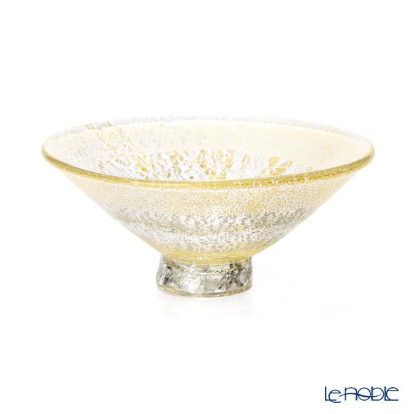 【1点限り】津軽びいどろ 大川薫工房茶碗 ゴールド OK19-2053