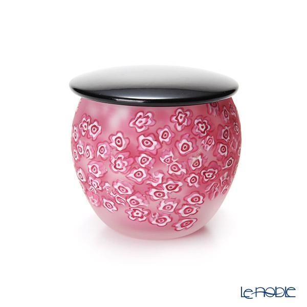 【1点限り】津軽びいどろ 大川薫工房 茶器 ピンク OK17-3038