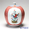 Traditional Japanese Handicraft: Colin-an Vase with Japanese flowers decor (Arita porcelain)