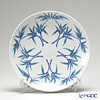 Traditional Japanese Handicraft: Colin-an Plate 24 cm with Bamboo decor (Arita porcelain)
