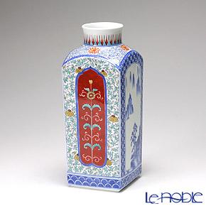 【伝統工芸】古琳庵窯 間取山水角花瓶