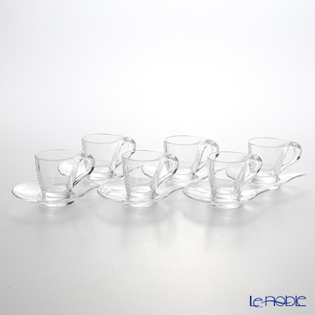RCR Home&Table ハッピー エスプレッソカップ&ソーサー 100cc 6個セット