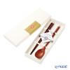 JWakasa Lacquerware 'MIZUHIKI' Silver Wakasa Lacquerware Chopsticks, Yamanaka Lacquerware Spoon, Chopstick Rest (set of 3 for 1 person)