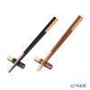 Wakasa Lacquerware x Mino ware 'Haze - Asymmetry' Black x Brown Chopsticks & Chopstick Rest (set of 4 for 2 persons)