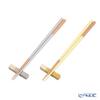 Wakasa Lacquerware x Mino ware 'Haze - Asymmetry' Gray x Yellow Chopsticks & Chopstick Rest (set of 4 for 2 persons)