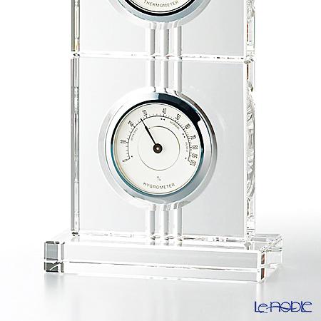 Narumi 'Glass - Thermo' GW1000-11019 Desk Clock & Thermometer & Hygrometer H28.5cm