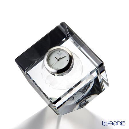 ナルミ グラスワークス 3Dアースキューブクロック GW1000-11055
