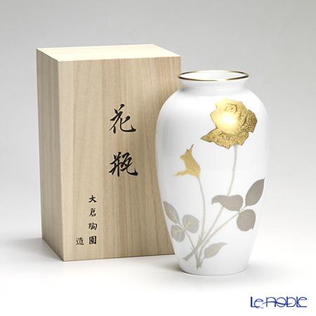 Okura Art China 'Gold Etching Rose' 2A/2016 Vase H23cm