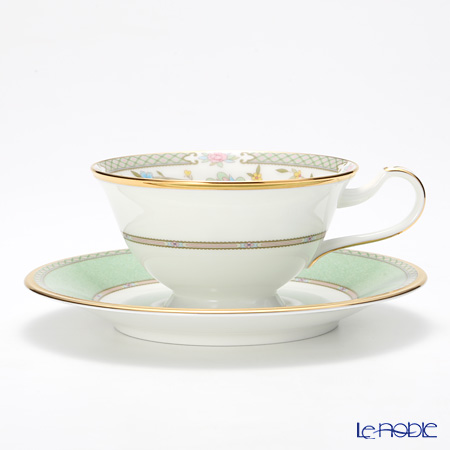 ノリタケ ヨシノ Y59587/9983ティー・コーヒー兼用 碗皿 グリーン