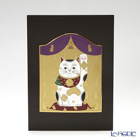 ノリタケ スタジオコレクション縁起物 陶額 招き猫 K193/AC284