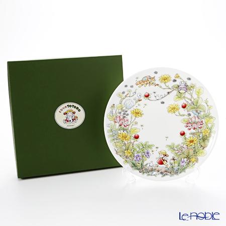 Noritake My Neighbor Totoro Plate 23 cm, Indian strawberry T50116A/4660-3 则武 吉卜力工作室 龙猫/豆豆龙 23cm盘 蛇莓