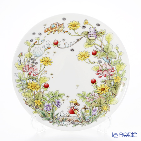Noritake 'My Neighbor Totoro - Indian Strawberry' T50116A/4660-3 Plate 23cm 则武 吉卜力工作室 龙猫/豆豆龙 23cm盘 蛇莓