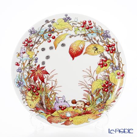 Noritake My Neighbor Totoro (吉卜力工作室 龙猫/豆豆龙) Plate 23 cm, Smilax china T50116A/4660-6