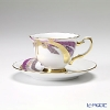 TOUEN Kyo Yuzen-dyeing series flower gift Demitasse Cup plate Cup & saucer 76C/E143