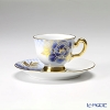 TOUEN Kyo Yuzen-dyeing series City pine tree Peony Demitasse Cup plate Cup & saucer 62C/E144