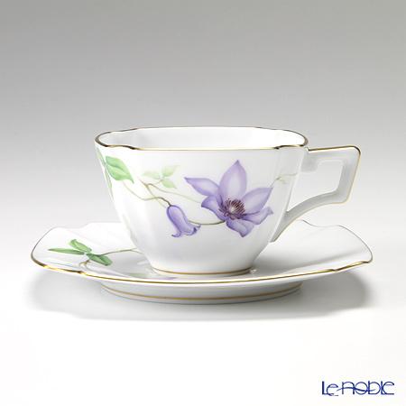 大倉陶園 「新日本の雅」より 茶花シリーズ 鉄線 碗皿(カップ&ソーサー) 108C/E151