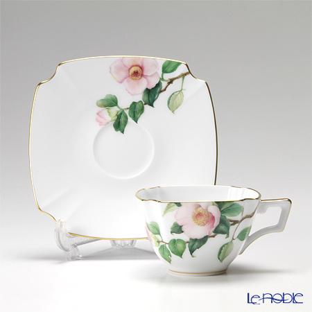 大倉陶園 「新日本の雅」より 茶花シリーズ 白椿碗皿(カップ&ソーサー) 108C/E152
