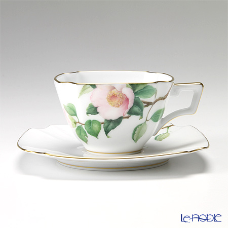 大倉陶園 「新日本の雅」より 茶花シリーズ 白椿 碗皿(カップ&ソーサー) 108C/E152