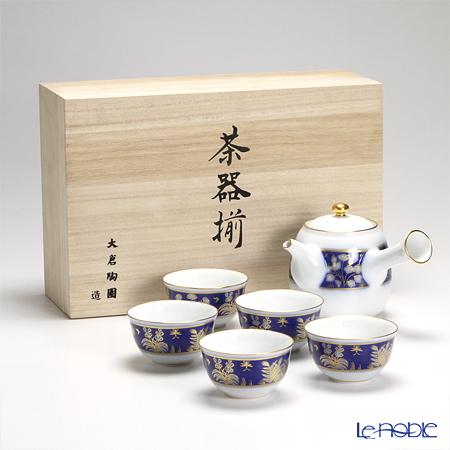 大倉陶園 正倉院草文花文 茶器揃 【木箱入】 49BJ/E165