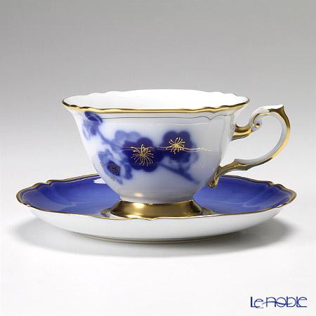 大倉陶園 姫君の雅 70CV/E145碗皿(カップ&ソーサー) 5客セット 【桔梗・木瓜・葵・菊・梅】