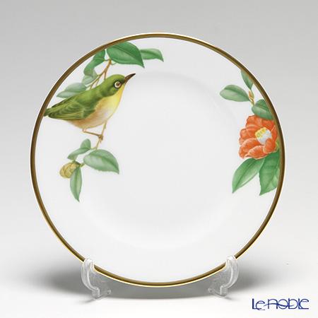 大倉陶園 野鳥シリーズ メジロ ケーキ皿 17cm 4H/5431