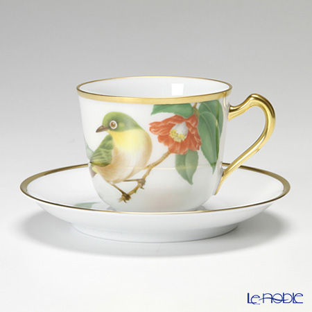 大倉陶園 野鳥シリーズ メジロカップ&ソーサー 57C/5431