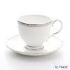 Noritake Platinum Rochelle t50788y/4795 Tea coffee cup plate