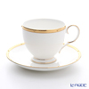 Noritake 'Rochelle Gold / Raised Dots' T50788A/4796 Tea / Coffee Cup (combined) & Saucer 240ml