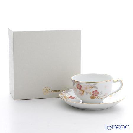 大倉陶園 糸桜碗皿 1C/A682-1