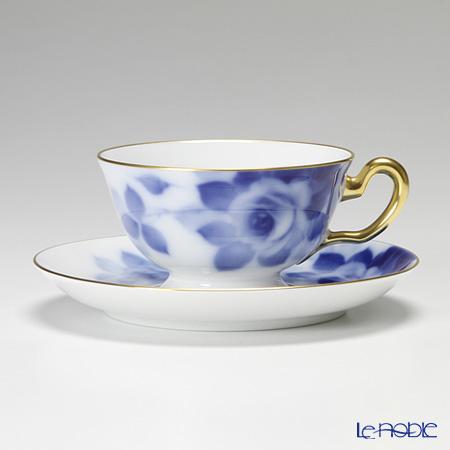 大倉陶園 ブルーローズティー碗皿(カップ&ソーサー) 6C/8011