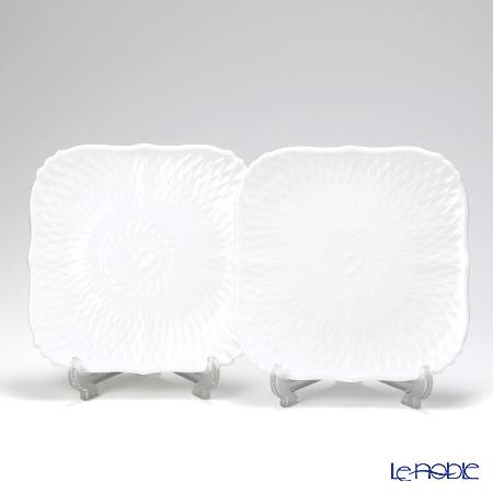Noritake Cher Blanc Square plate 15 cm 2 pcs set P94836/1655