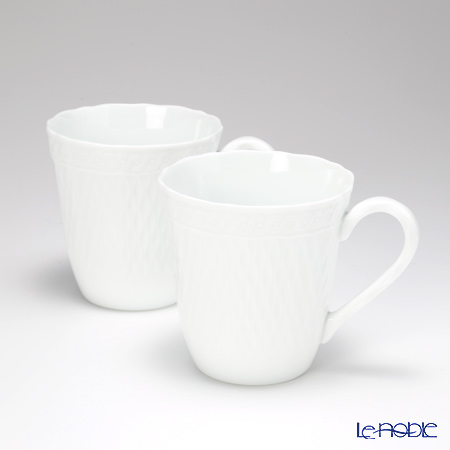 Noritake Cher Blanc Mugs, Set of 2, 10 Oz. P94854/1655
